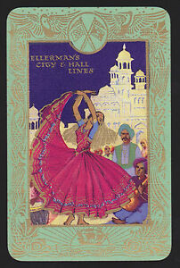 1-Single-VINTAGE-Swap-Playing-Card-ELLERMAN-CITY-INDIA-Dance-Shipping-SteamShip