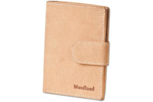 Woodland® moderne Leder Universal Geldbörse mit Außenriegel in Hellbraun