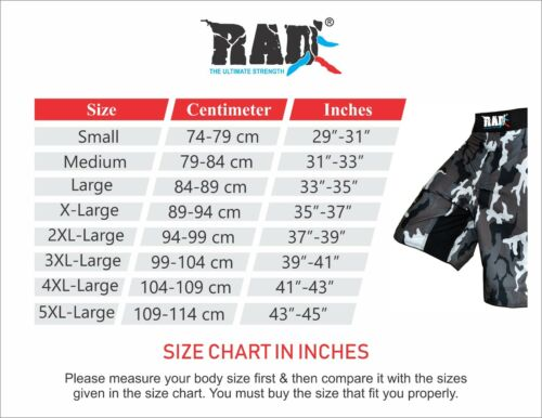 RAD MMA Fight Shorts Grappling Short Kick Boxing Cage Fighting Shorts CAMO New