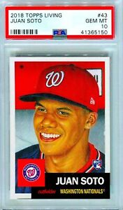 2018-Topps-Living-Juan-Soto-Rookie-43-SP-RC-GEM-MINT-PSA-10