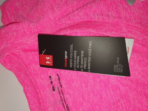 Under Armour Tech Twist Womens Ladies Fitness Training T-Shirt Tee Pink Small