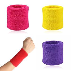 2x-Sport-Sweatbands-Wristband-Tennis-Squash-Badminton-Gym-BBFR