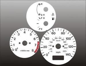 1997-1998-Mazda-Protege-White-Face-Gauges-97-98