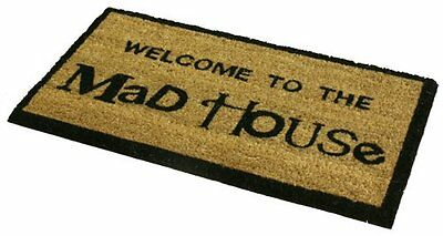 Jvl Pvc Backed Novelty Coir Mad House Entrance Door Mat 33 X 60 Cm Home Househo