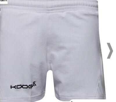 Kooga Adult Antipodean II Rugby Sports Shorts White size M Medium BNWT RRP £36