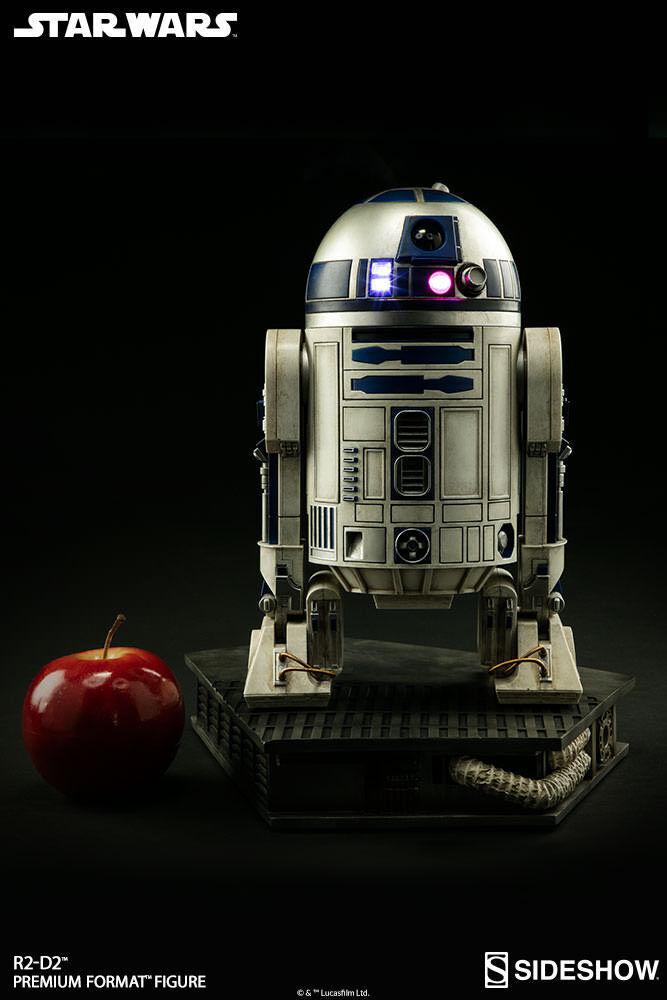 Stjärnornas krig 1  4 skalformat för Premium Format R2 -D2 Figur sideshow samlaibles