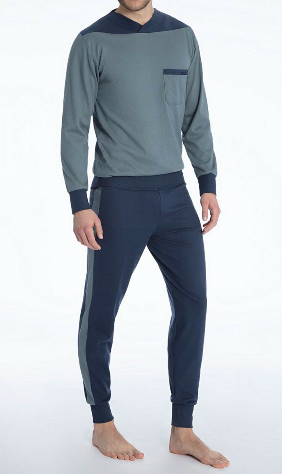 CALIDA Schlafanzug lang XL stormy Grau 45312