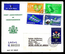 1961 NIGERIA 1ST ANNIVERSARY OF INDEPENDENCE - REGISTERED FDC (ESP#L4098)