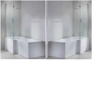 L Shape Shower Bath Tub Left Right Hand 1600 1700 Large
