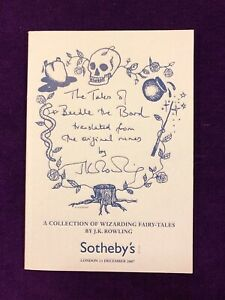 Sotheby-039-s-catalogue-for-The-Tales-of-Beedle-the-Bard-by-J-K-Rowling