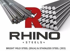 Bright Mild Steel Round Bar 16mm Dia x 500mm EN1A