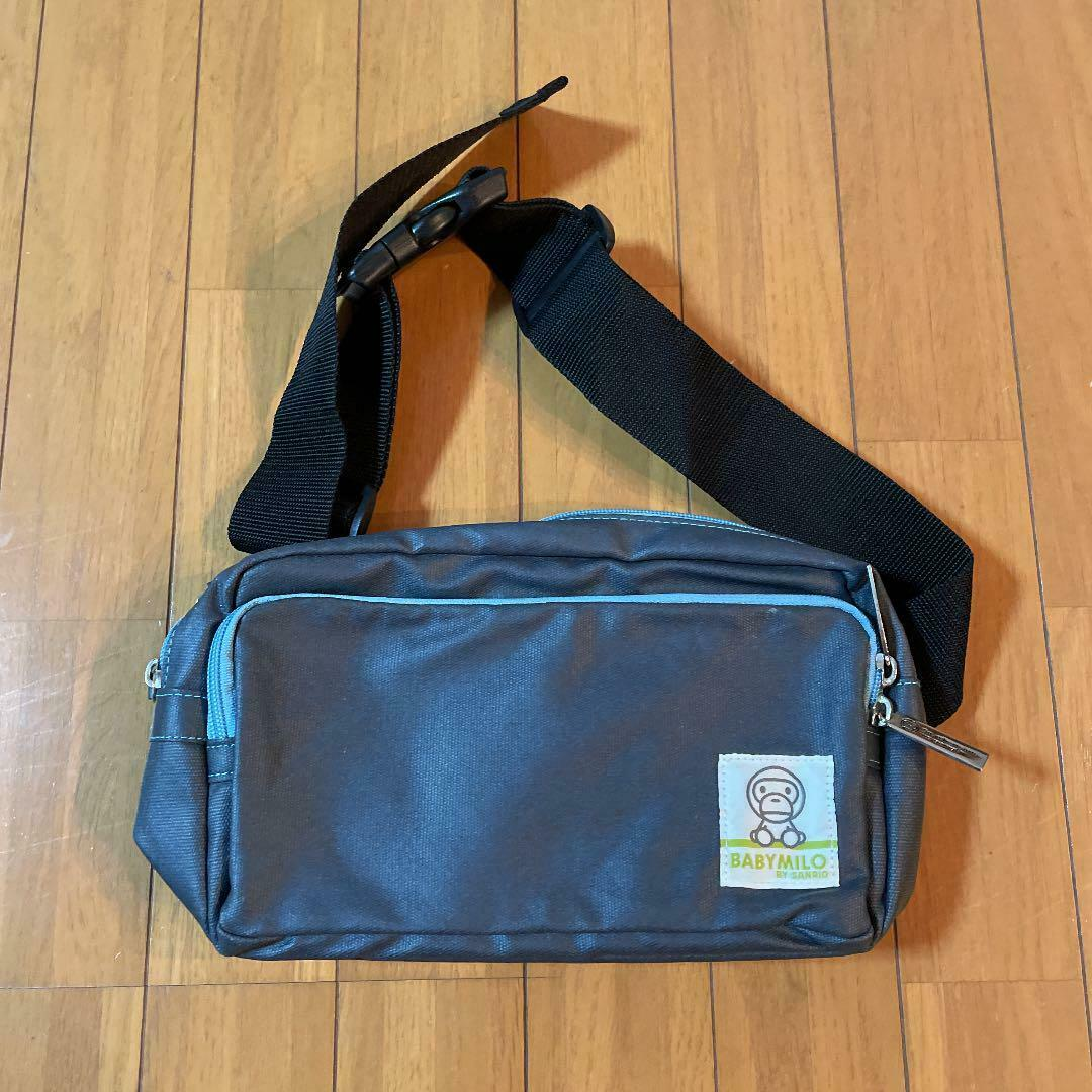 BABY MILO Shoulder Bag Navy Rare Used from Japan F/S