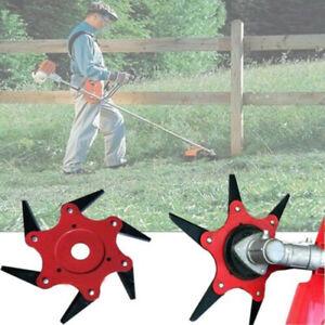 6-Steel-Blades-Razor-Weed-Trimmer-Head-Lawn-Mower-Sharpener-Heads