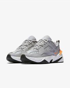 Femme Nike M2K TEKNO-UK 9.5/US 12/EUR 44.5 - Gris/Orange/Blanc (AO3108-004)