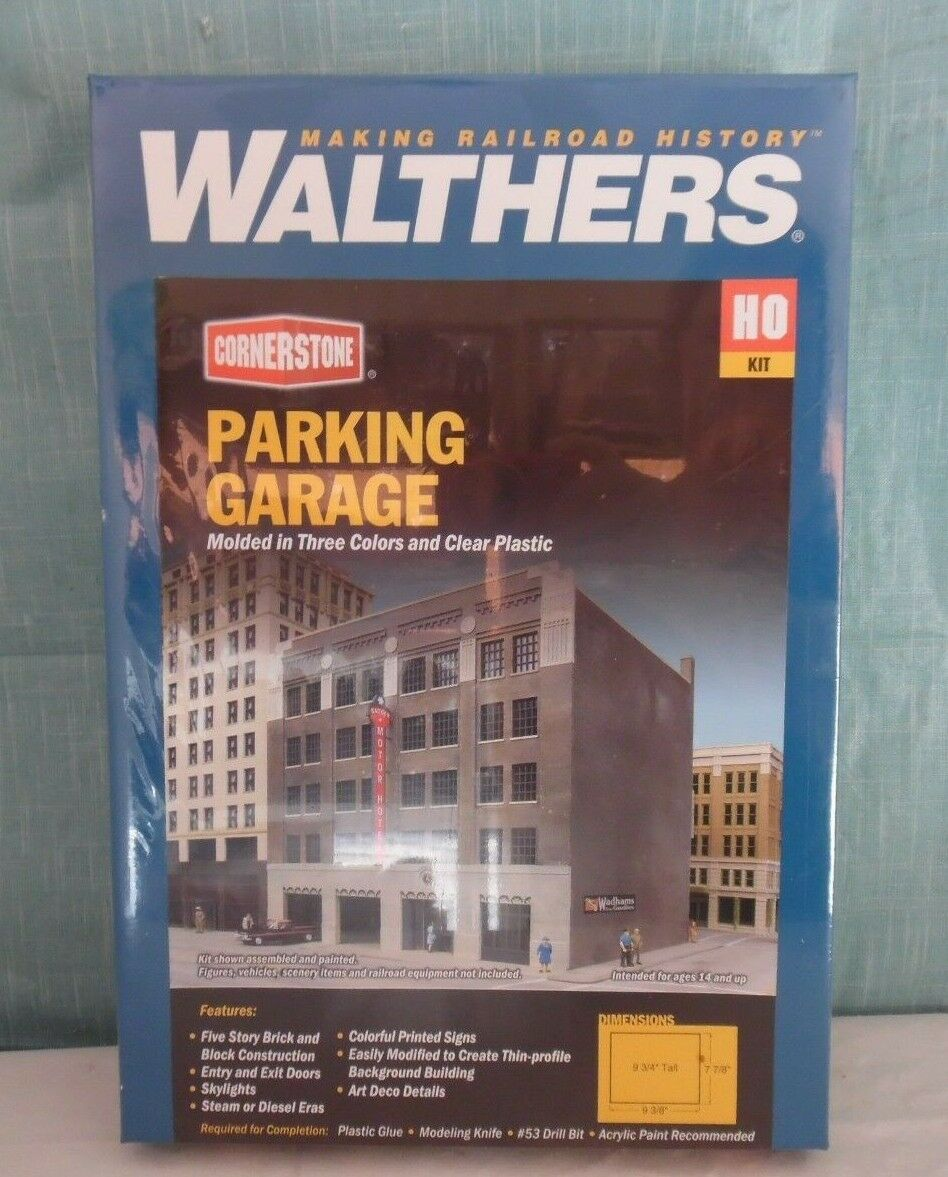 Walthers Cornerstone PARKING PARKING PARKING GARAGE Ho Scale NEW 3d3bb5