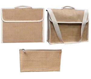 New-Jute-Hessian-Plain-Book-Bag-Files-Carrier-Laptop-Bag-Pencil-Case-Bag