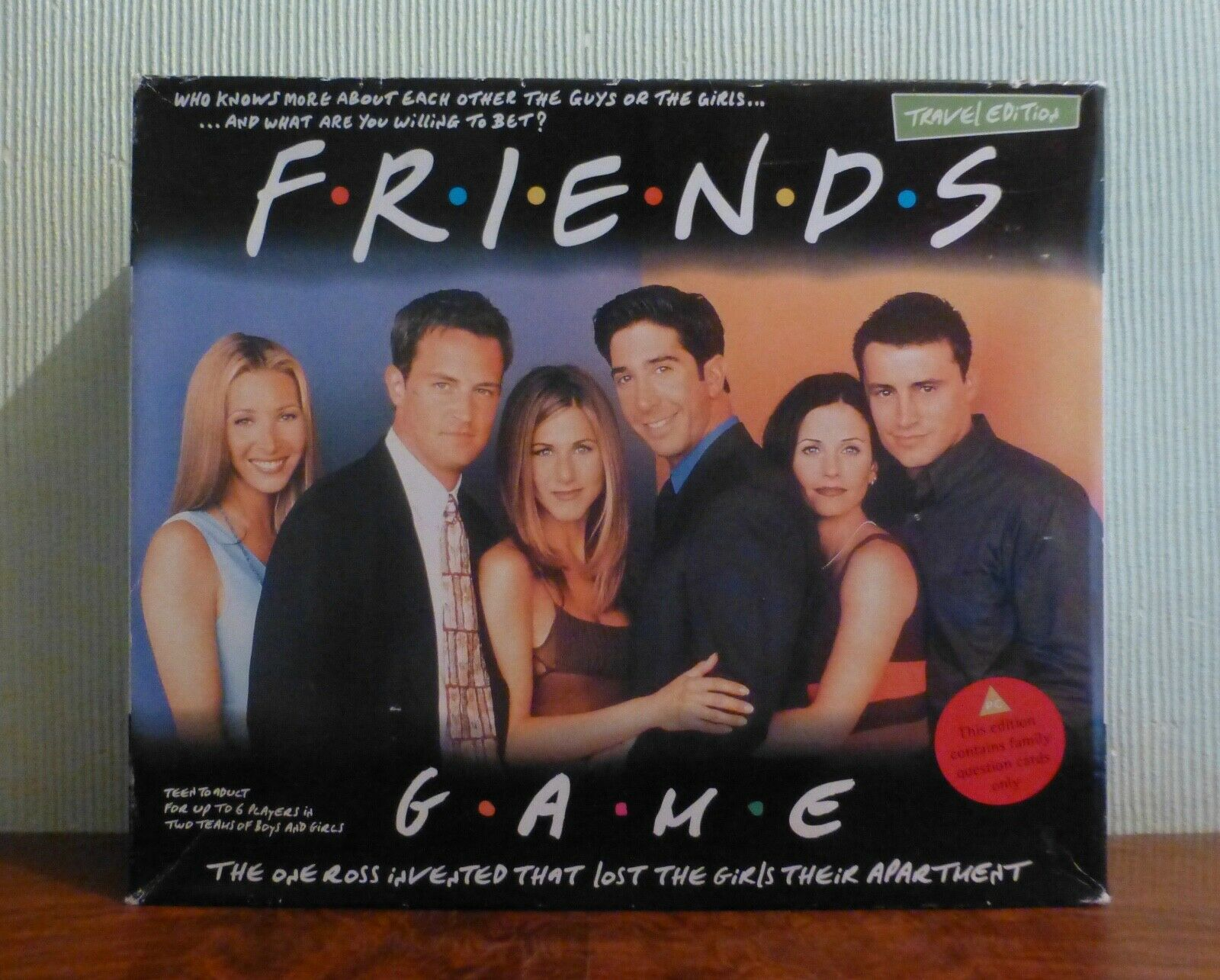 Rare Travel Edition Friends Game. The Game Ross Invented. Unplayed.