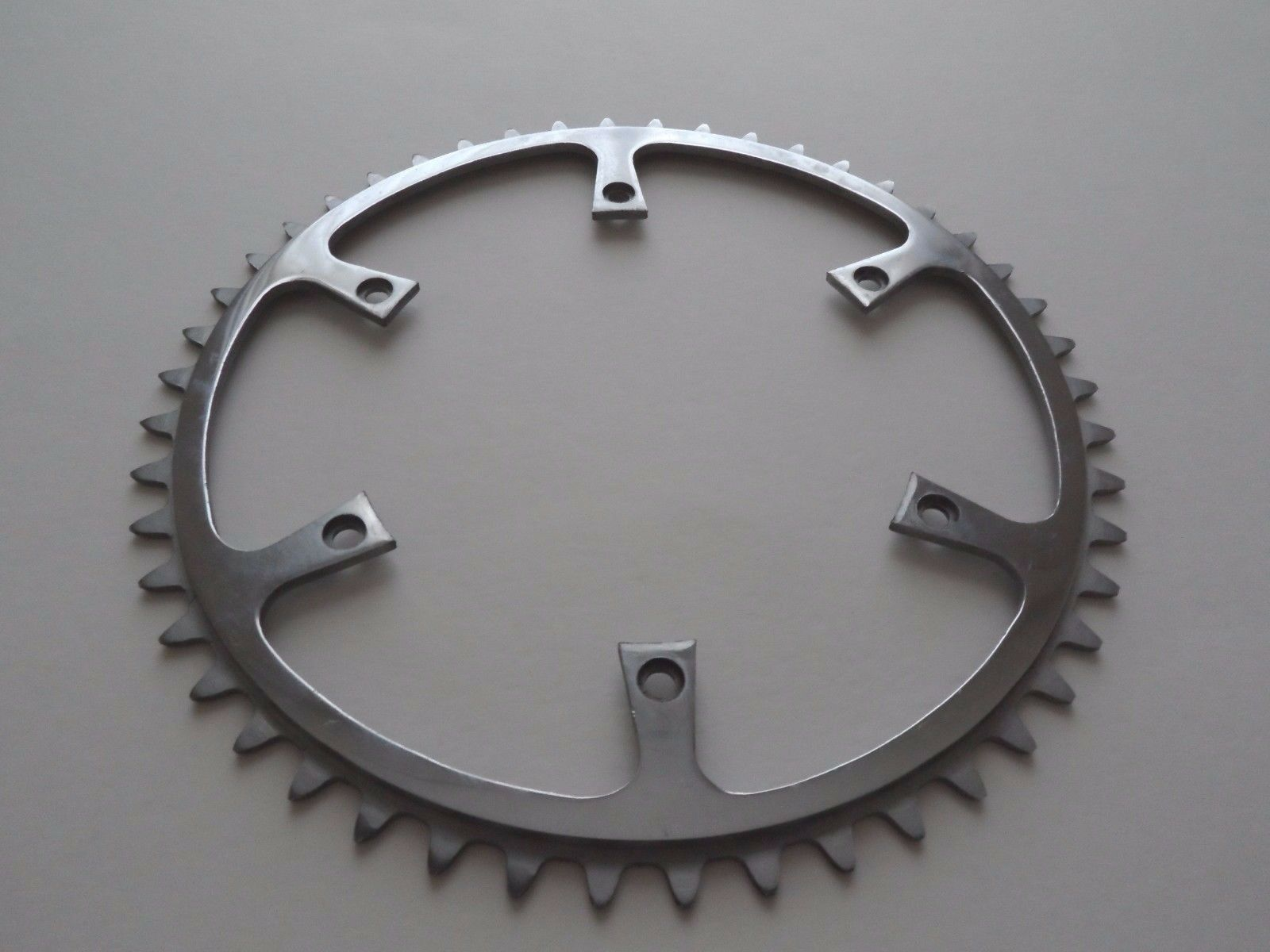 Rare NOS Vintage 1950s Williams 48T 3 32  inner steel 6 hole chainring