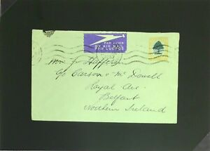 South-Africa-1937-Airmail-Ship-Cover-to-Northern-Ireland-Z2786