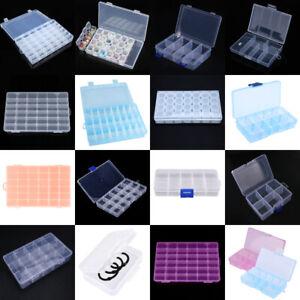 Plastic-15-24-36-Slots-Adjustable-Jewelry-Storage-Box-Case-Craft-Organizer-Bead