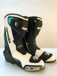 Spada-Curve-Evo-Leather-Motorcycle-Boots-Waterproof-race-Sports-Blue-white-8-42