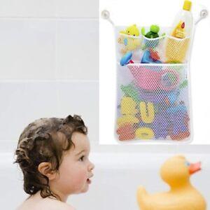 UK Baby Bath Bag toy Tidy Storage Net Suction Cup Mesh Shower Bathroom Organizer