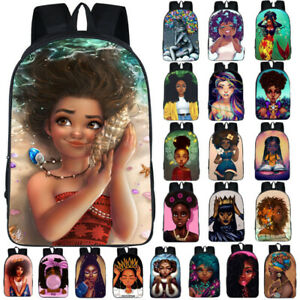 African-Beauty-Black-Princess-Girls-School-Bag-Travel-Backpack-Rucksack-32-Style