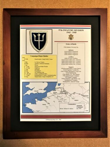 97th Infantry Division Insignia and History in World War II