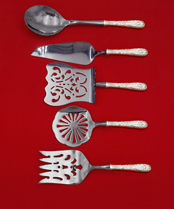 Repousse-by-Kirk-Sterling-Silver-Brunch-Serving-Set-5-Piece-HH-WS-Custom-Made