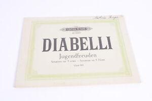 DIABELLI-Jugendfreuden-Sonatinas-on-5-Notes-Opus-163-Noten-Edition-Peters