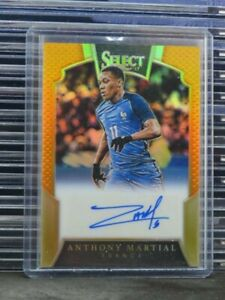 2016-17 Select Anthony Martial Orange Prizm Auto Autograph #04/50 J87