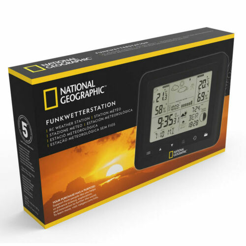 National Geographic Weather Station With Remote Sensor in Black**FREE DELIVERY**