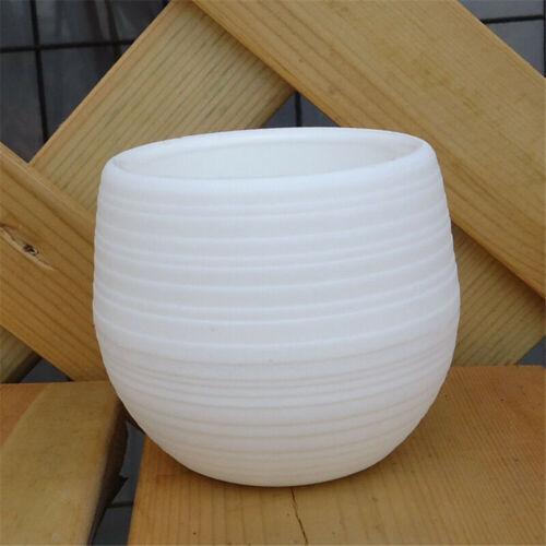 1PC Mini Plastic Flower Pot Succulent Plant Flowerpot For Home Office Decoration
