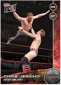 2016-Topps-Now-WWE-Clash-of-Champions-CHRIS-JERICHO-15-FREE-SHIPPING