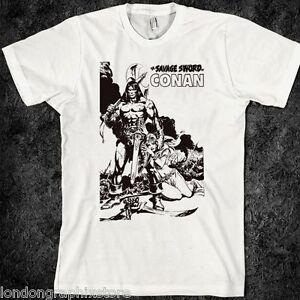 594043f47eb Image is loading Conan-the-barbarian-T-Shirt-samurai-assassins-anime-
