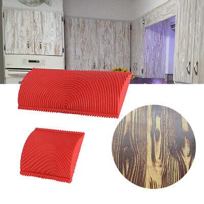 2PCS Wood Grain Pattern Rubber Wall Decoration Stamp Wall DIY ...