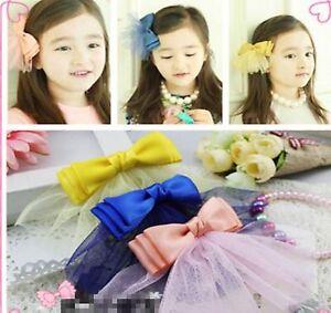 1PC-Girl-Kids-Bow-Ribbon-Veil-Wedding-school-Princess-headband-Hair-Barrett-Clip
