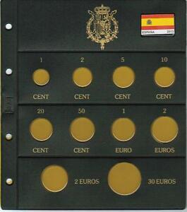 2013 HOJA para Serie de €uro España. 8+2+30 €ur.Rígida,estable,calidad y bandera
