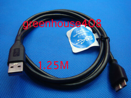 Genuine Original USB 3.0 A-Micro B Cable//Cord For WD My Passport HDD WDCA042RNN