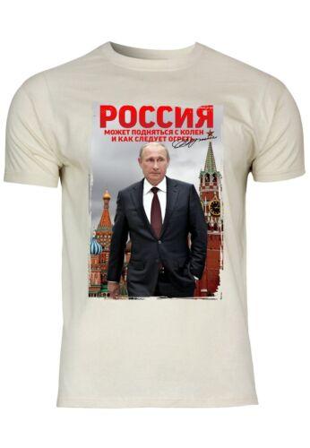 M108 F140 Herren T-Shirt mit Motiv Russia PutinDesign Baumwolle Freizeit