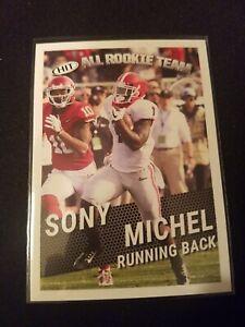 Sony-Michel-RC-2018-Sage-Hit-All-Rookie-Team-Card-127-Patriots-Football-NFL