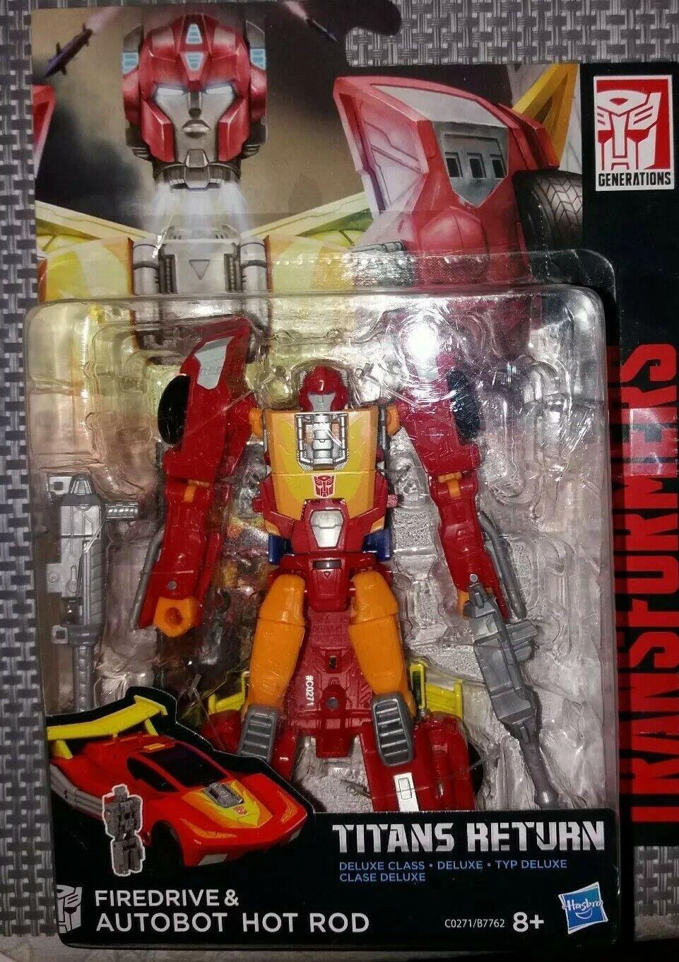 MISB  Transformers Generations Titans Return Autobot Hot Rod & Fire Drive Figure