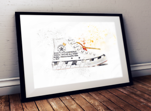 b7efe975f6cbb Details about Off White Converse Chuck 70 / Trainer / Sneaker Wall Art  Print / Poster Original