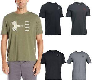 a5cf362a7 Under Armour Men's Freedom Flag Crew Neck Short Sleeve T-shirt Short ...