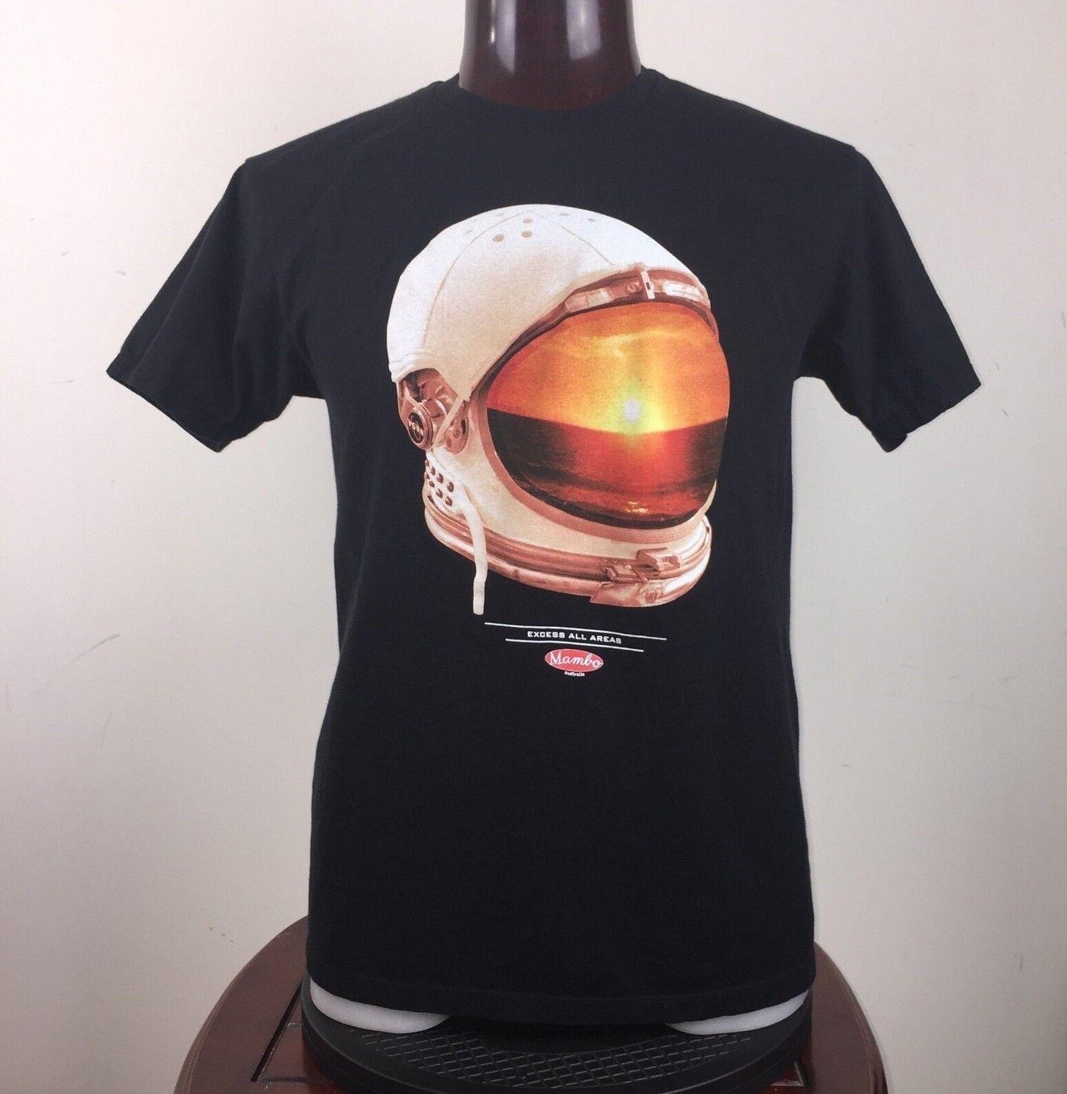 Mambo Mens L Helmet NASA Astronaut Excess All Areas T-Shirt Short Sleeve