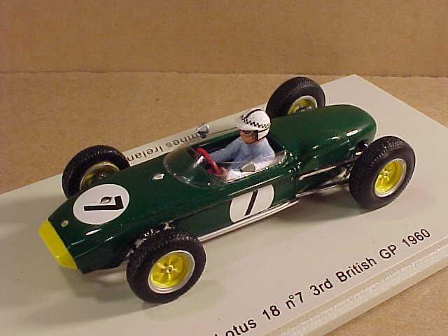 Spark 1/43 Resin Team Lotus 18, 3rd Place 1960 British GP, Innes Ireland  #S1824