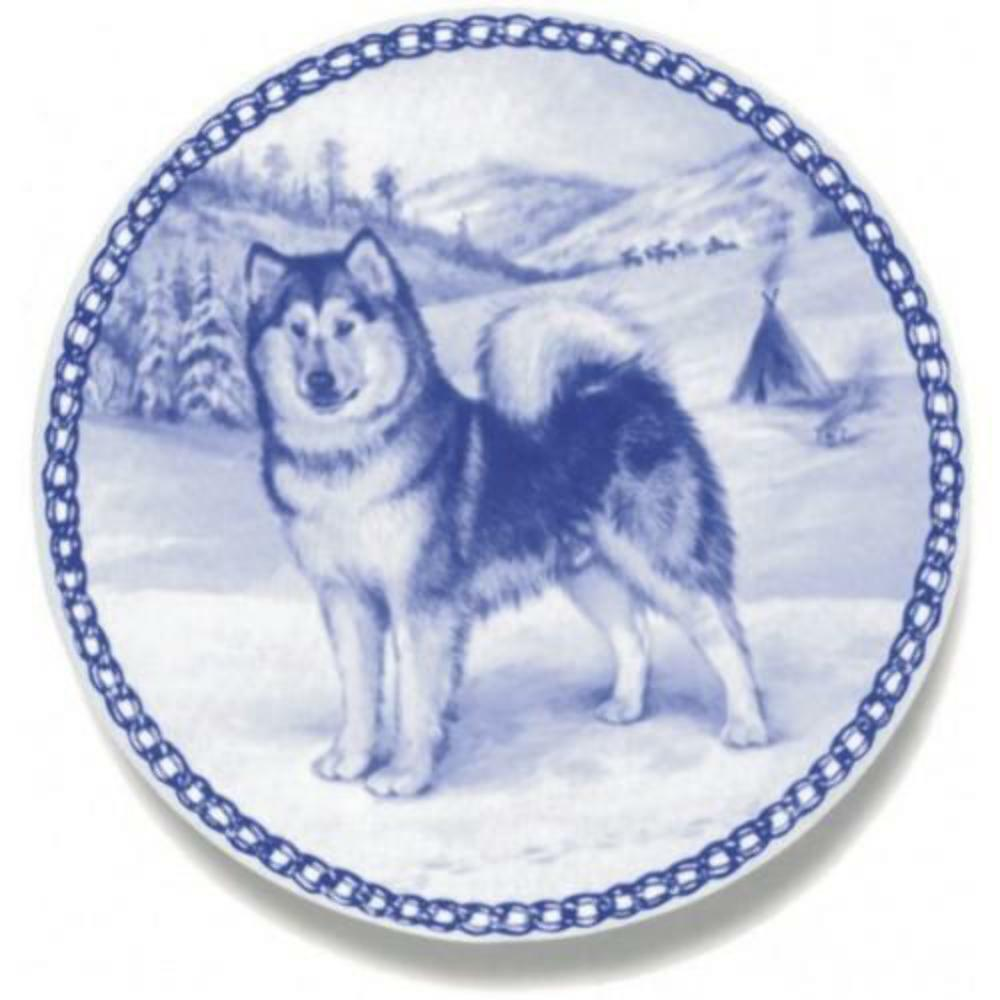 Alaskan Malamute - Dog Plate made in Denmark from the finest European Porcelain