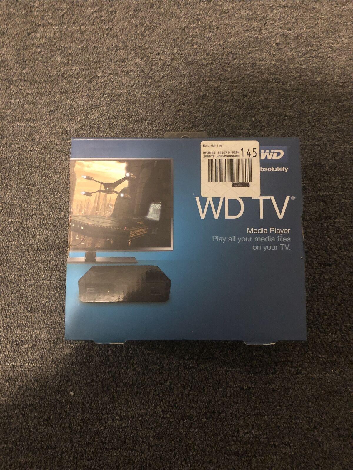 NEW Western Digital WD TV Streaming Media Player WDBYMN0000NBK digital media new player streaming wdbymn0000nbk western