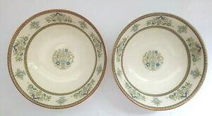 Minton-Henley-S749-Fruit-Dessert-Sauce-Bowl-5-1-4-034-Set-of-2-Vtg-Dishwasher-Safe