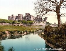 The Castle, Caerphilly, Wales - 1890 - Historic Photo Print